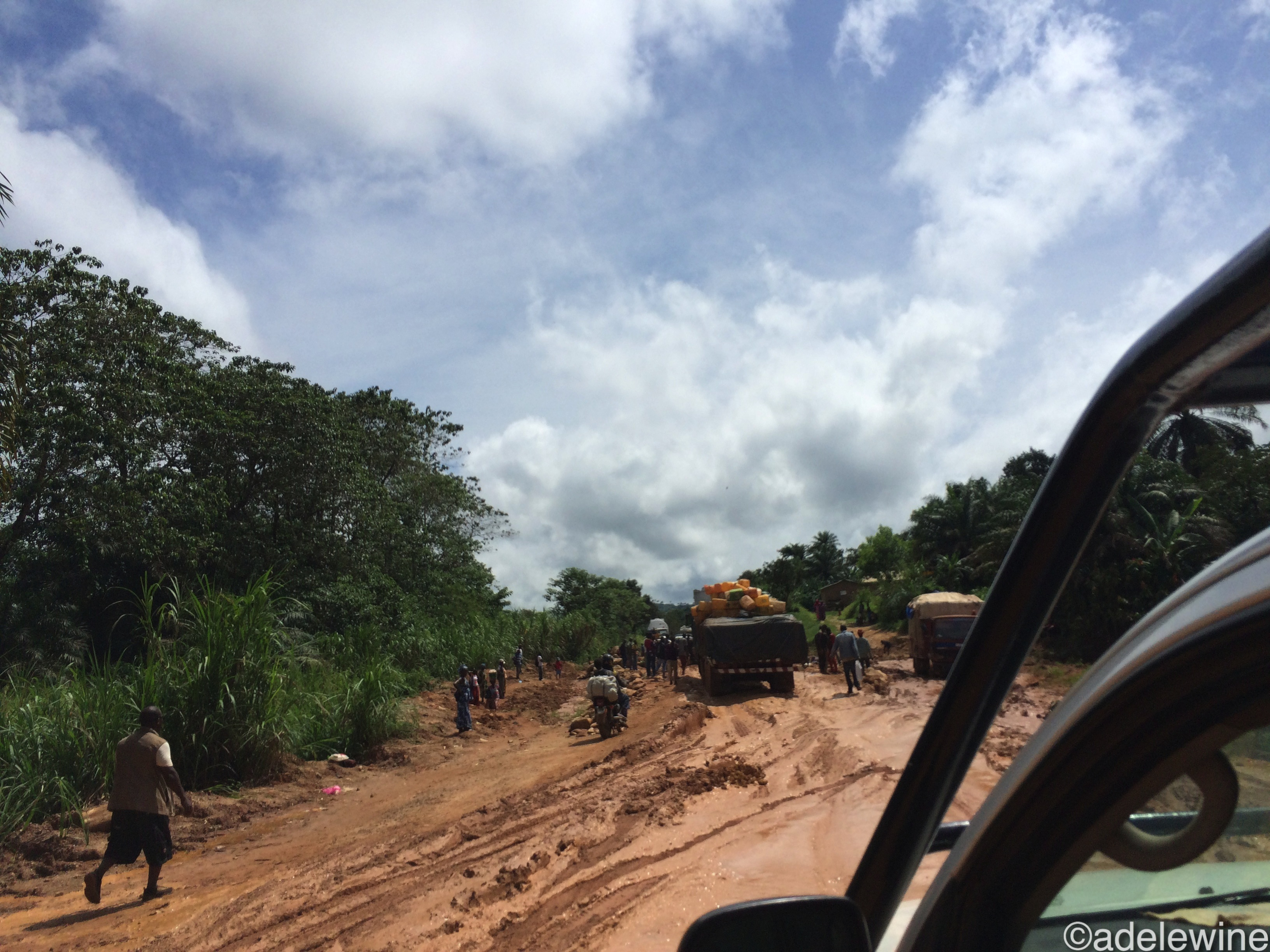 Une route de la Guinée forestière